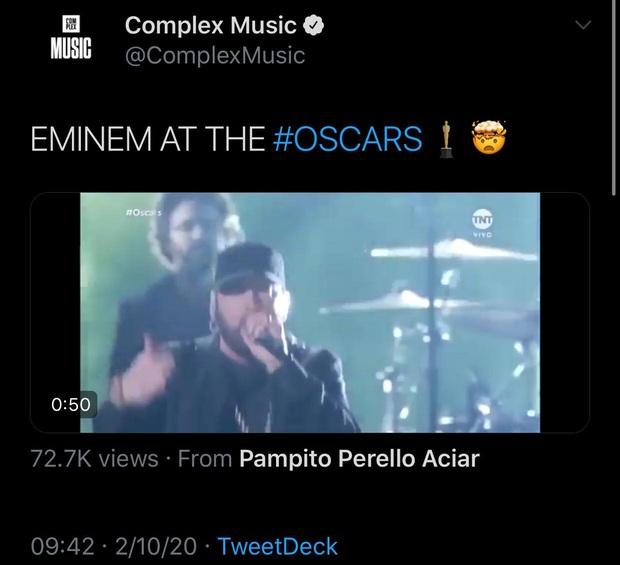 Netizen ngỡ ngàng vì Eminem xuất hiện tại Oscars: Sao lớn cỡ nào cũng thành teen quẩy với chú rapper! - Ảnh 12.