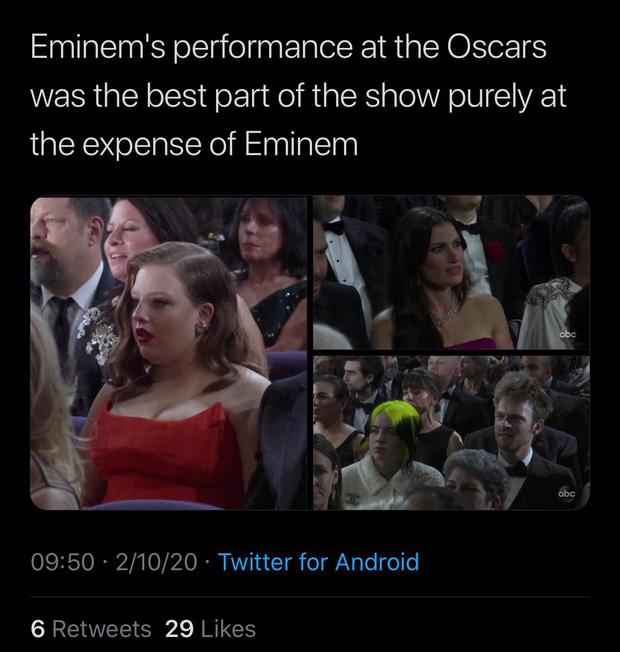 Netizen ngỡ ngàng vì Eminem xuất hiện tại Oscars: Sao lớn cỡ nào cũng thành teen quẩy với chú rapper! - Ảnh 8.