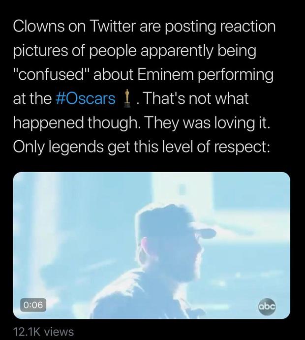 Netizen ngỡ ngàng vì Eminem xuất hiện tại Oscars: Sao lớn cỡ nào cũng thành teen quẩy với chú rapper! - Ảnh 9.