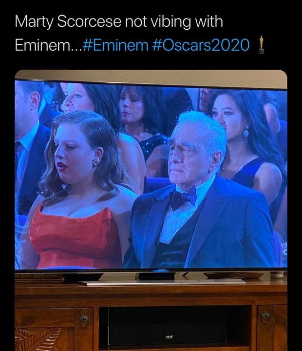 Netizen ngỡ ngàng vì Eminem xuất hiện tại Oscars: Sao lớn cỡ nào cũng thành teen quẩy với chú rapper! - Ảnh 4.