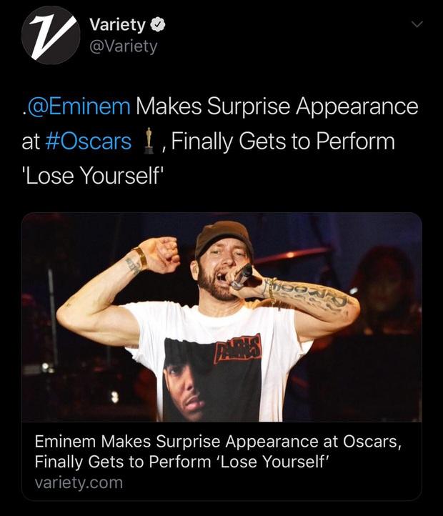 Netizen ngỡ ngàng vì Eminem xuất hiện tại Oscars: Sao lớn cỡ nào cũng thành teen quẩy với chú rapper! - Ảnh 11.