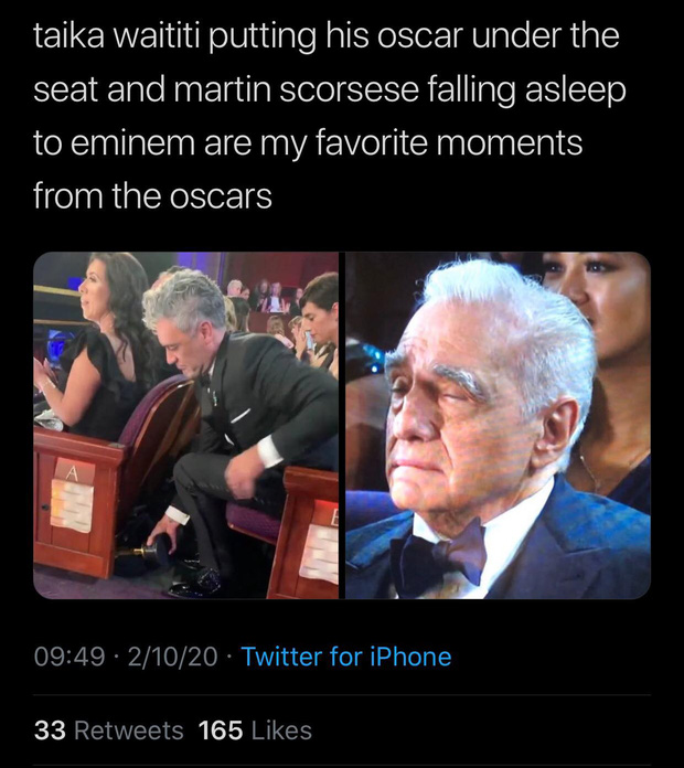 10 khoảnh khắc viral nhất đêm Oscar lịch sử: Người sợ mất tượng vàng bèn cất dưới gầm ghế, đạo diễn Bong gục sau cánh gà - Ảnh 16.