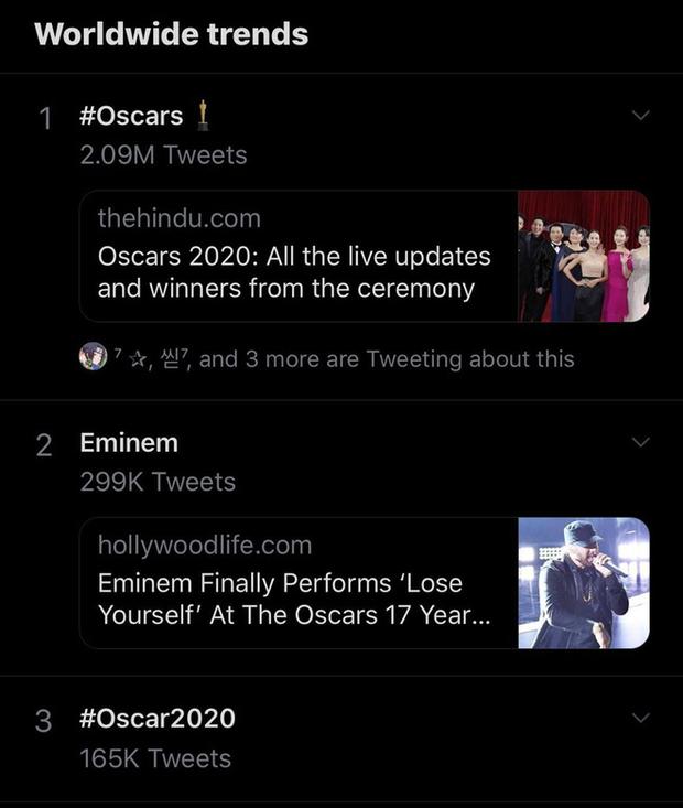 Netizen ngỡ ngàng vì Eminem xuất hiện tại Oscars: Sao lớn cỡ nào cũng thành teen quẩy với chú rapper! - Ảnh 1.