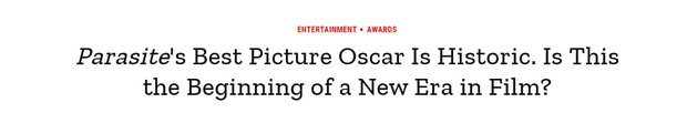 Báo chí toàn thế giới sốc nặng trước thành tích của Parasite: Oscar 2020 bị chỉ trích vì toàn trắng, cuối cùng Châu Á chiến thắng - Ảnh 2.