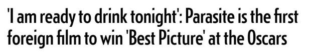 Báo chí toàn thế giới sốc nặng trước thành tích của Parasite: Oscar 2020 bị chỉ trích vì toàn trắng, cuối cùng Châu Á chiến thắng - Ảnh 4.