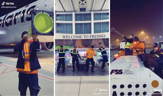 Nhảy nhót nhí nhố làm video TikTok ở sân bay, 4 thanh niên vừa kịp nổi tiếng đã bị đuổi việc ngay tắp lự - Ảnh 1.