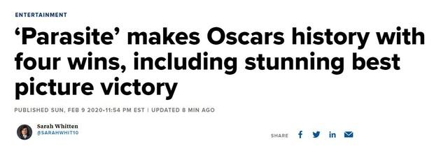 Báo chí toàn thế giới sốc nặng trước thành tích của Parasite: Oscar 2020 bị chỉ trích vì toàn trắng, cuối cùng Châu Á chiến thắng - Ảnh 5.