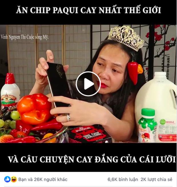 """Ăn chip cay nhất thế giới, """"chị Vinh YouTuber"""" suýt nữa phải gọi… xe cấp cứu và thừa nhận chẳng dám thử thách Quỳnh Trần JP - Ảnh 3."""