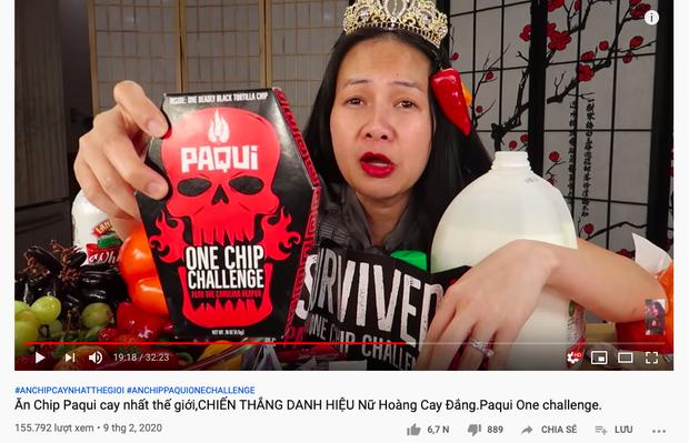 """Ăn chip cay nhất thế giới, """"chị Vinh YouTuber"""" suýt nữa phải gọi… xe cấp cứu và thừa nhận chẳng dám thử thách Quỳnh Trần JP - Ảnh 2."""