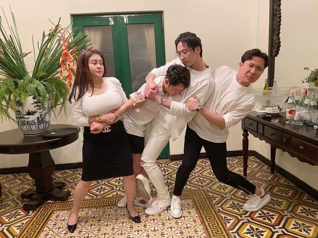 Sinh nhật Trấn Thành nhưng Lê Giang chiếm trọn spotlight vì vòng một quá khủng - Ảnh 1.