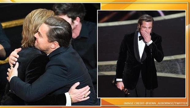 Khoảnh khắc ngôn tình hot nhất Oscar 2020: Leonardo nhìn Brad Pitt đắm đuối, tay nắm chặt tay như chỉ đôi ta tồn tại - Ảnh 3.