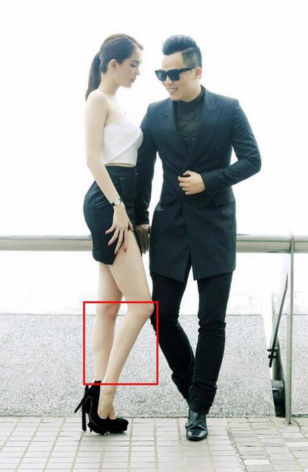 Tự tin khoe chân thon dài hết mức trên phố nhưng Ngọc Trinh lại bị bóc photoshop đến mức dị dạng khó hiểu - Ảnh 2.
