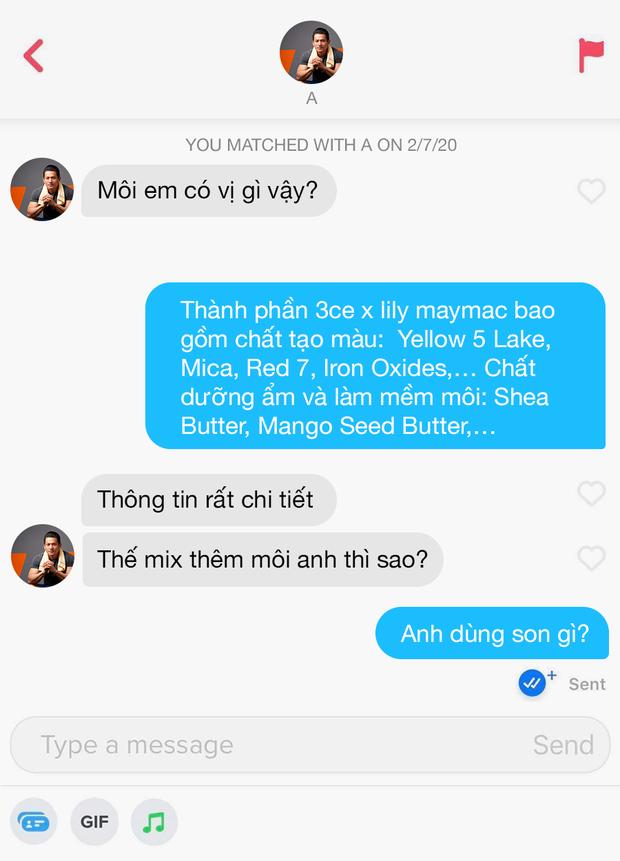 Hé lộ 12 đoạn chat đọc xong muốn bỏ dùng Tinder: Khi bạn order real love nhưng thượng đế thử thách bằng 7749 trò đùa - Ảnh 1.