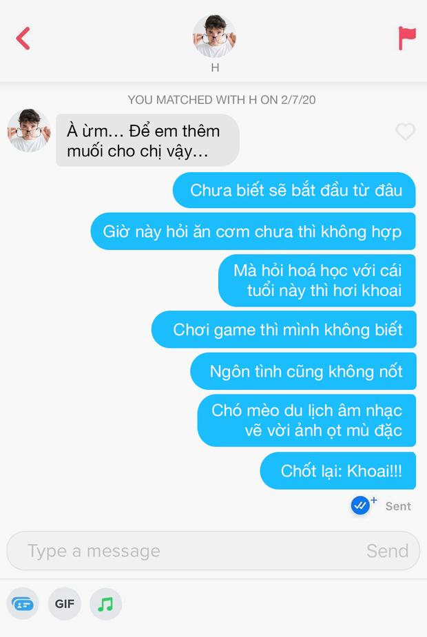 Hé lộ 12 đoạn chat đọc xong muốn bỏ dùng Tinder: Khi bạn order real love nhưng thượng đế thử thách bằng 7749 trò đùa - Ảnh 8.