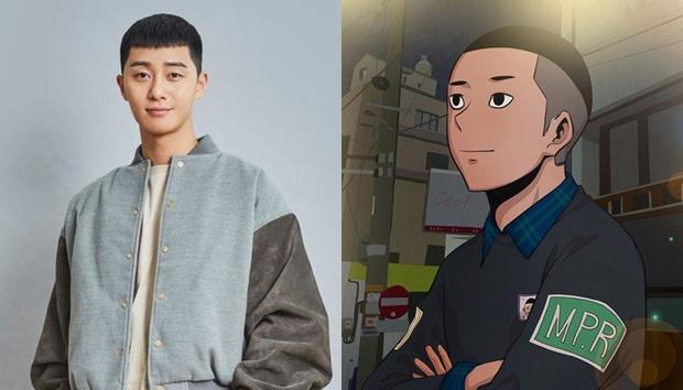 Tạo hình nhân vật Tầng Lớp Itaewon so với webtoon: Park Seo Joon ngầu ngang ngửa, Kim Da Mi màu mè hơn trong truyện - Ảnh 2.