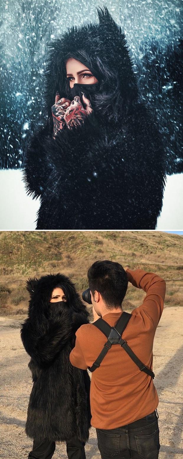 Loạt ảnh Behind The Scenes chứng minh sự thần kỳ của photoshop, từ những đạo cụ bình thường cũng thành tác phẩm nghệ thuật - Ảnh 16.