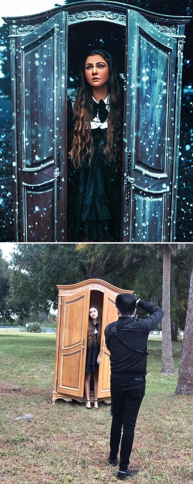 Loạt ảnh Behind The Scenes chứng minh sự thần kỳ của photoshop, từ những đạo cụ bình thường cũng thành tác phẩm nghệ thuật - Ảnh 8.