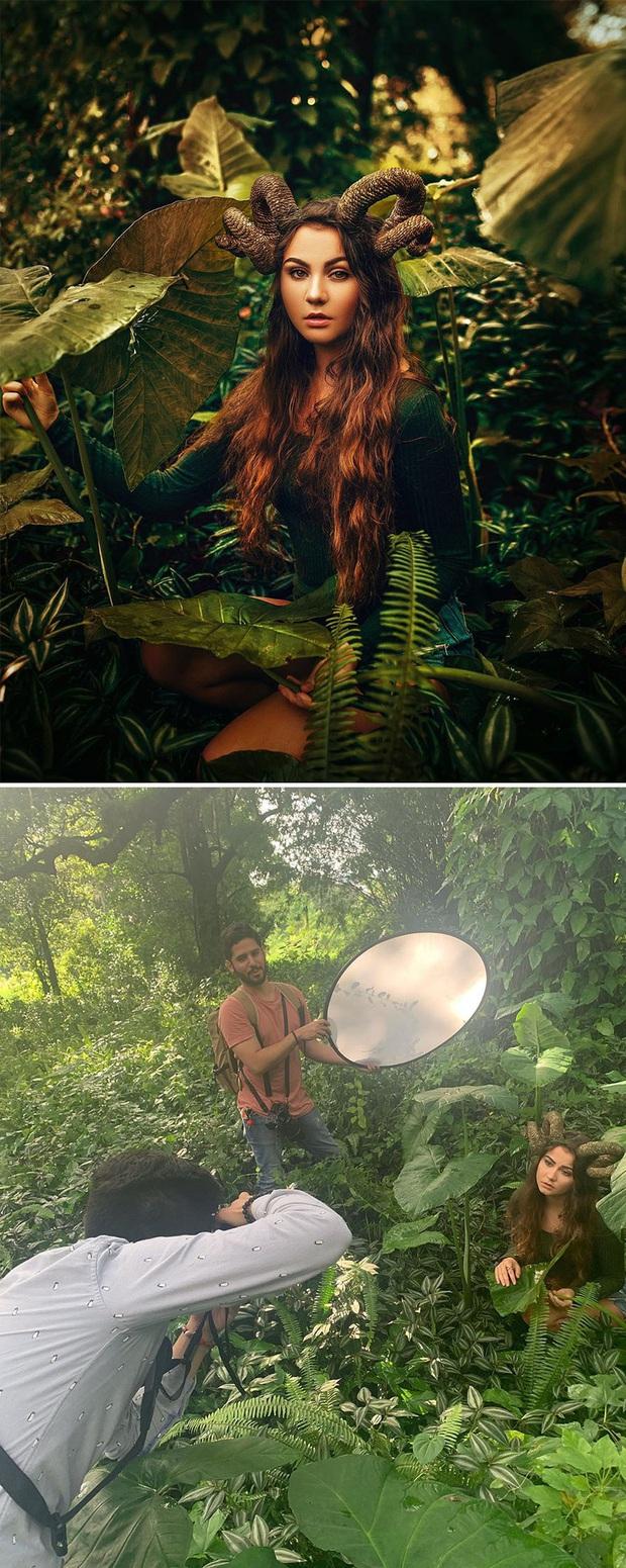 Loạt ảnh Behind The Scenes chứng minh sự thần kỳ của photoshop, từ những đạo cụ bình thường cũng thành tác phẩm nghệ thuật - Ảnh 18.