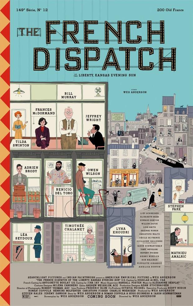 Hoàng tử trái đào Timothée Chalamet khỏa thân toàn bộ trong poster của The French Dispatch - Ảnh 1.