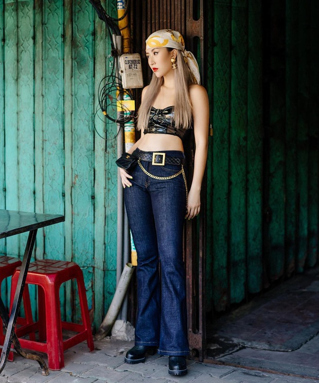 Mốt khăn buộc đầu của sao Việt: Trông hay ho, chanh sả là thế nhưng không phải ai cũng đu theo được - Ảnh 4.