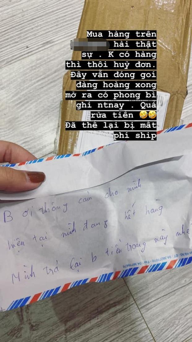 Lịch sử mua hàng online ghi nhận 1 ca khó đỡ: Hết hàng chủ shop không nhắn một câu, ship trả lại khách 50k trong thùng giấy to đùng - Ảnh 3.