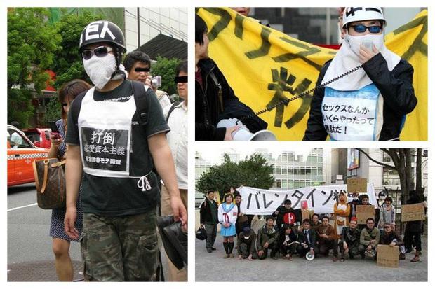 Hội đàn ông kém hấp dẫn Nhật Bản biểu tình đòi dẹp Valentine - Ảnh 1.