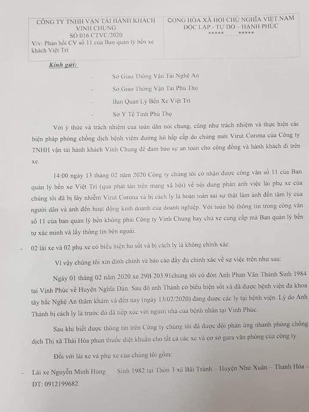 Chở hành khách có biểu hiện sốt từ Vĩnh Phúc đi Nghệ An, nhiều nhân viên xe khách bị yêu cầu cách ly, xét nghiệm Covid-19 - Ảnh 3.