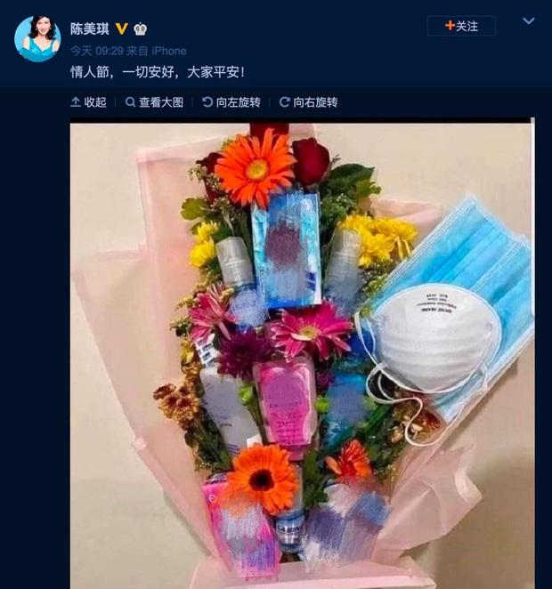 Sao Cbiz đón lễ Tình nhân: Hoa khẩu trang cực hot, Dương Tử tuyên bố độc thân, bạn trai Dương Mịch lẻ bóng - Ảnh 2.