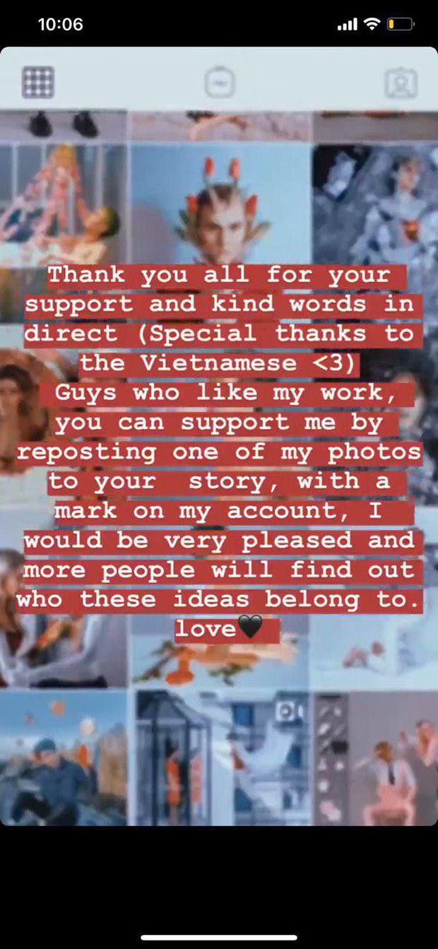 Tài khoản Instagram nghi bị Denis Đặng đạo ảnh lên tiếng: Người sao chép ý tưởng của tôi có cả dấu tích xanh, tôi thì không! - Ảnh 2.