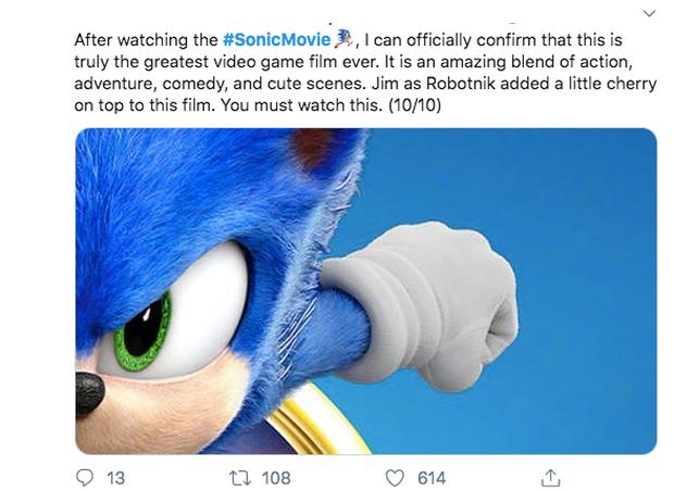 Báo chí thế giới nhận xét Sonic the Hedgehog: Phim vô hồn nhưng kẻ phản diện Jim Carrey thì đỉnh vô đối - Ảnh 8.