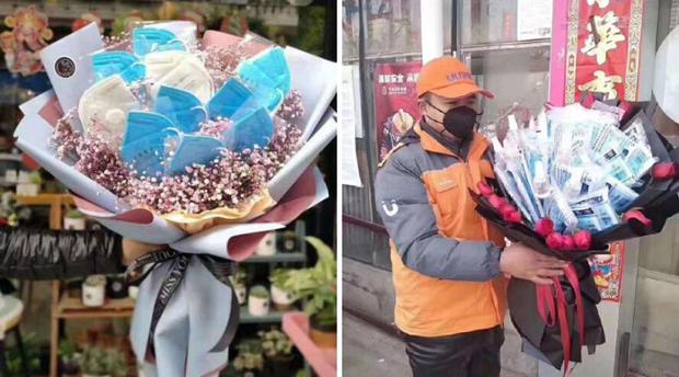 Valentine giữa dịch virus corona: Hàng triệu cặp đôi bật chế độ yêu xa, chùm hoa khẩu trang trở thành món quà trendy hàng đầu - Ảnh 2.