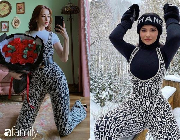 Diện bộ jumpsuit gần 80 triệu, Chi Pu mix đồ cực kỳ cao tay thậm chí còn có thể so bì độ gợi cảm với cả Kylie Jenner - Ảnh 6.