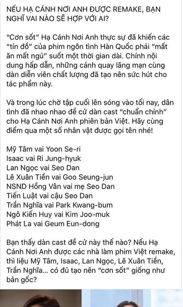 Quá mê Crash Landing on You, netizen gây tranh cãi kịch liệt khi mạnh dạn đề cử chị đẹp Mỹ Tâm yêu Isaac cho bản Việt - Ảnh 1.