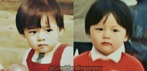 Ghép thử hình Hyun Bin và Son Ye Jin, ai ngờ fan phát hiện cặp đôi có tướng phu thê: Ảnh hồi bé còn gây choáng hơn! - Ảnh 2.