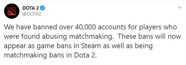 Người chơi Dota 2 đang sụt giảm nghiêm trọng nhưng Valve vẫn ban hơn 40 nghìn tài khoản vì smurf - Ảnh 1.