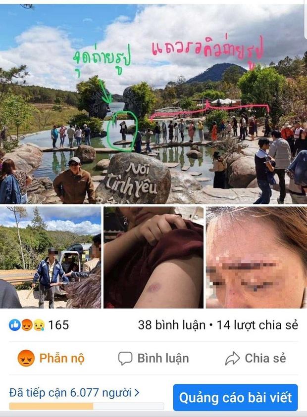 Tranh giành chỗ chụp hình ở hồ Vô Cực - Đà Lạt, một du khách Thái Lan bị đánh bầm dập - Ảnh 2.
