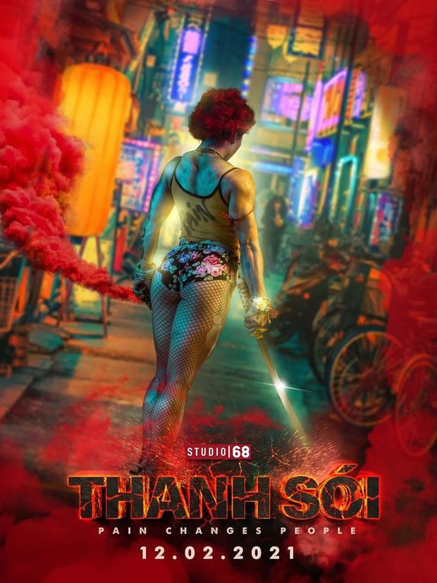 Ngô Thanh Vân tung poster Thanh Sói siêu màu mè, nhìn qua cứ tưởng Harley Quinn ghé chơi Tầng Lớp Itaewon! - Ảnh 1.