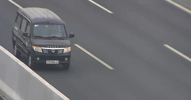 Đi ngược chiều trên cao tốc Hà Nội - Hải Phòng, lái xe bị phạt 17 triệu đồng - Ảnh 1.