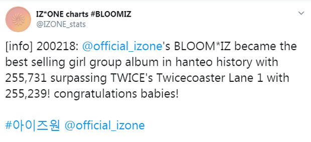 IZ*ONE sau 24 giờ tái xuất: Lọt top khủng long bán đĩa cùng BTS, EXO và phá vỡ kỉ lục 4 năm của TWICE; thành tích nhạc số đập tan tin đồn tẩy chay - Ảnh 3.