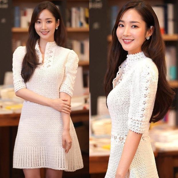 Cùng diện váy bánh bèo, Park Min Young xinh rất xinh nhưng không lấn át được Lisa với đôi giày đế độn hàng khủng - Ảnh 3.
