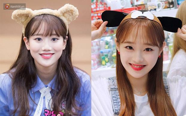 Nhiều người hẳn là phải cần kính lúp để phân biệt Naeun (April) và Chuu (Loona) vì độ giống nhau của họ lên đến 90% - Ảnh 3.