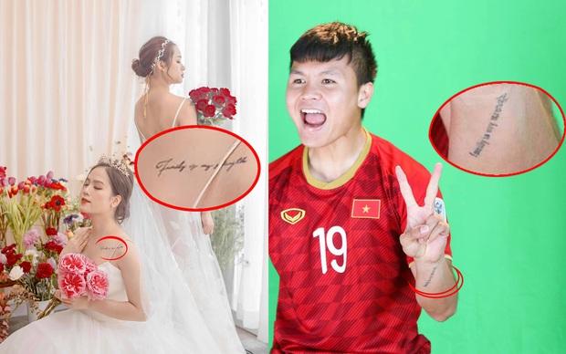 Phát hiện thú vị: Quang Hải và Huyền My có hình xăm đôi từ thời chưa dính tin đồn hẹn hò - Ảnh 1.