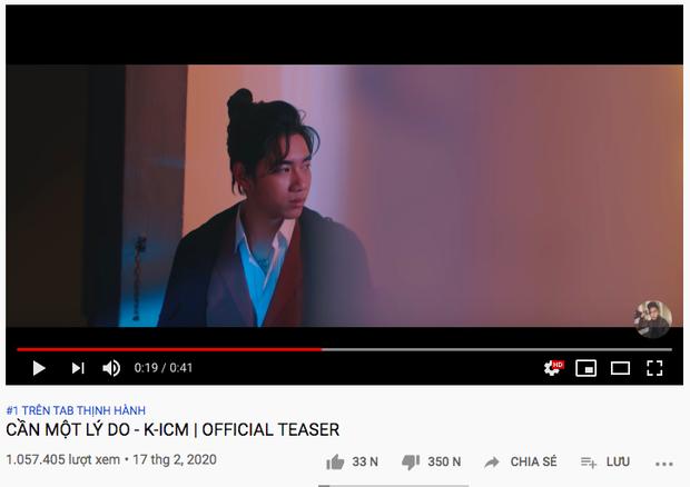 Comeback cùng thời điểm, K-ICM đạt #1 trending nhanh như chớp nhưng mất 20k lượt subscribe còn Jack rinh ngay nút bạc Youtube chỉ với... 1 video - Ảnh 5.