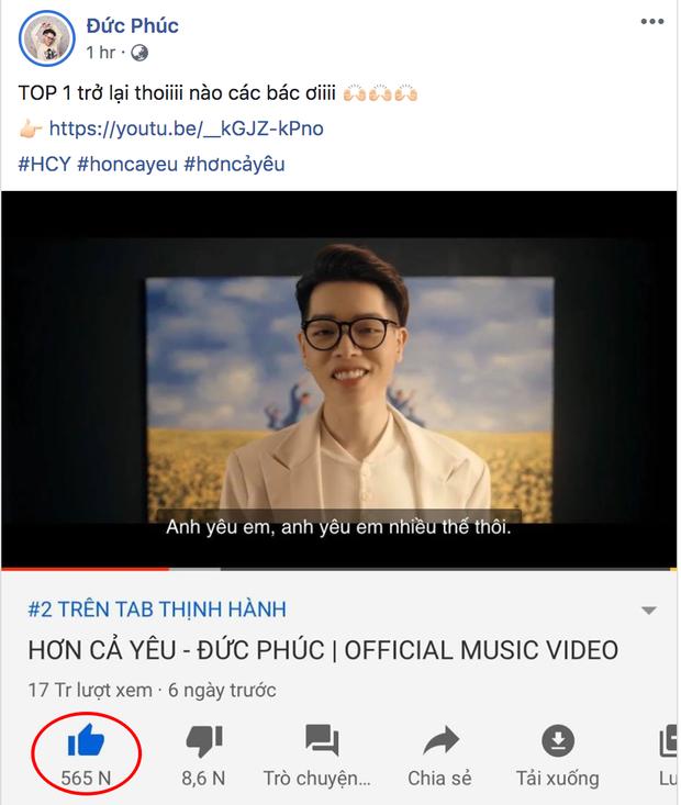 Bị K-ICM vượt mặt, Đức Phúc hô hào fan cày MV mới để trở lại top 1 trending nhưng lại lộ bằng chứng... tự luyến siêu đáng yêu - Ảnh 3.