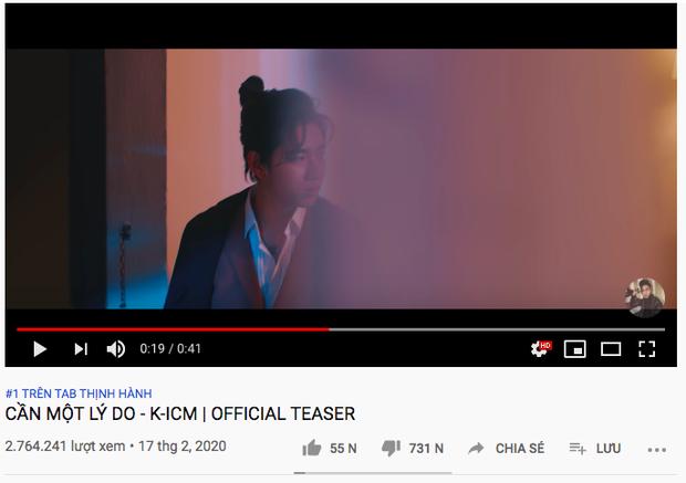 Teaser MV của K-ICM đạt kỷ lục chưa từng có của lịch sử nhạc Việt về lượt dislike trong chưa đầy 24 giờ, vượt qua chính mình, Sơn Tùng M-TP lẫn Chi Pu! - Ảnh 2.