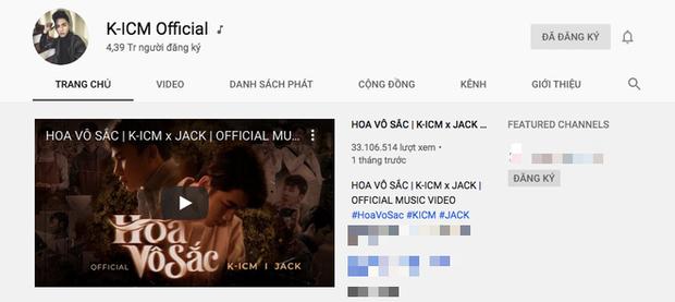 Comeback cùng thời điểm, K-ICM đạt #1 trending nhanh như chớp nhưng mất 20k lượt subscribe còn Jack rinh ngay nút bạc Youtube chỉ với... 1 video - Ảnh 7.