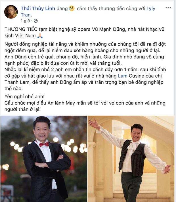 NSND Công Lý, diva Mỹ Linh cùng dàn nghệ sĩ Việt xót xa khi hay tin NSƯT Mạnh Dũng qua đời vì bị sát hại - Ảnh 5.