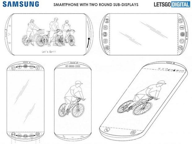 Lộ ý tưởng smartphone mới của Samsung tận 3 màn hình, thiết kế tròn vành vạnh chưa từng có - Ảnh 2.