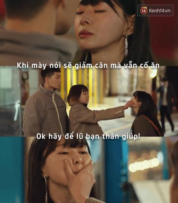 Nhiều lần lầm lỡ lại chỉ mong có một điên nữ bịt mồm ngăn lại như ngăn nụ hôn từ bạn thân cũ của Park Seo Joon trong Tầng lớp Itaewon - Ảnh 1.