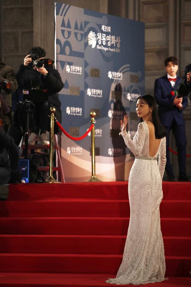 Ngất lịm loạt ảnh nữ quái Kim Da Mi đi thảm đỏ Oscar Hàn: Body nóng bỏng, chân dài 1m7 hóa ra bị Park Seo Joon dìm - Ảnh 3.